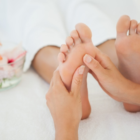 Fußreflexzonen- massage