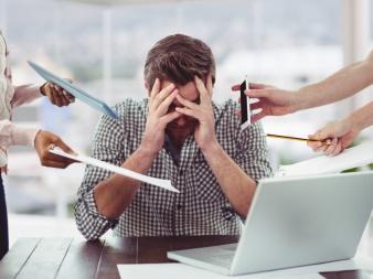 Stress blockiert die Verdauung-