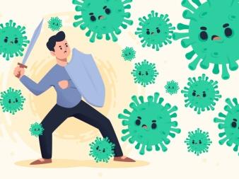 Der Mensch und die Viren-